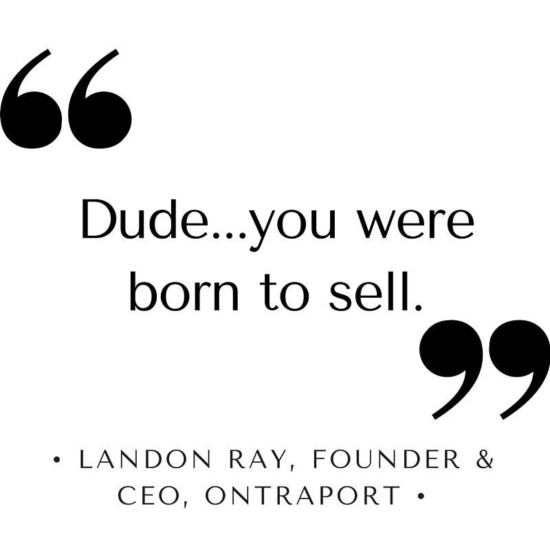 Landon Ray of Ontraport loves Wes Schaeffer's professional sales training.
