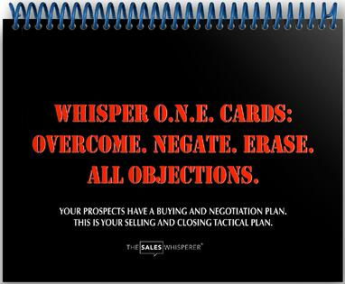 Get The Sales Whisperer® Flash Cards