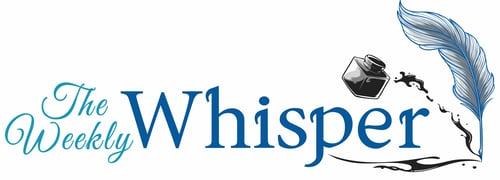 The Weekly Whisper Horizontal Blue Logo